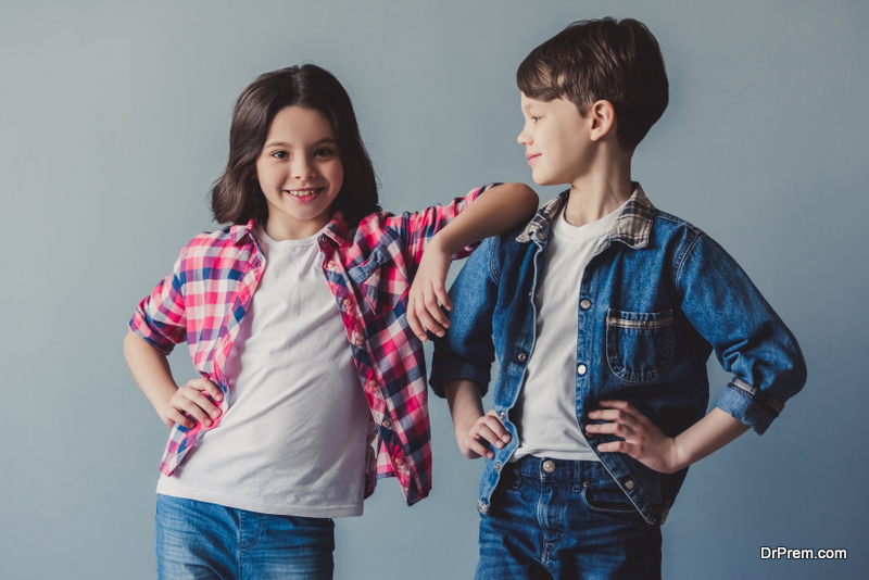 children wearing colorful clothes