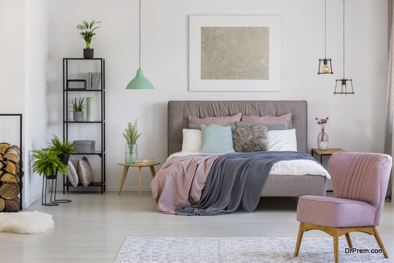 A chair adds beauty to your bedroom