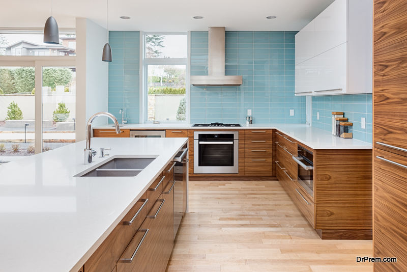 Countertop in the kitchen