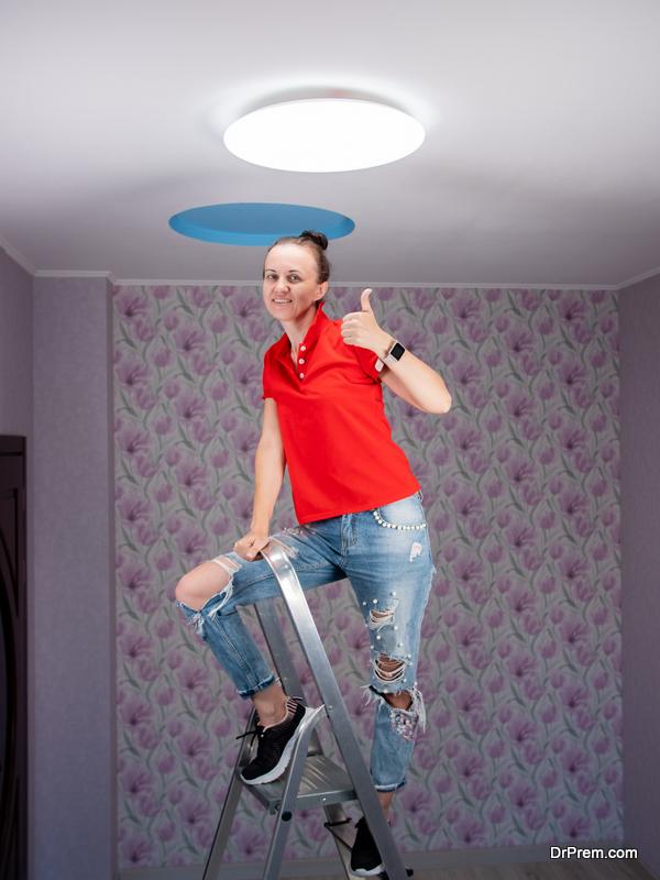 woman installed New Lightings