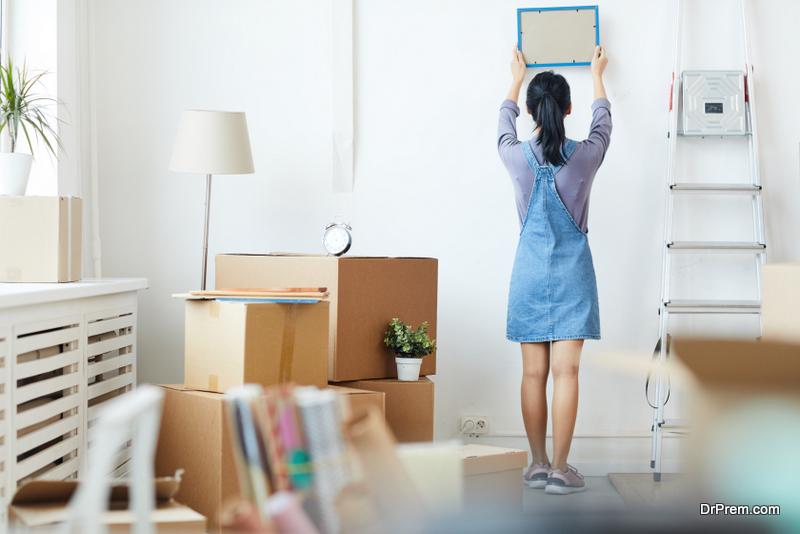 woman organising New Home