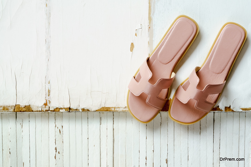 Mixed Material Sandals