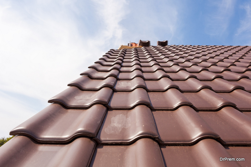 roofing work is complete