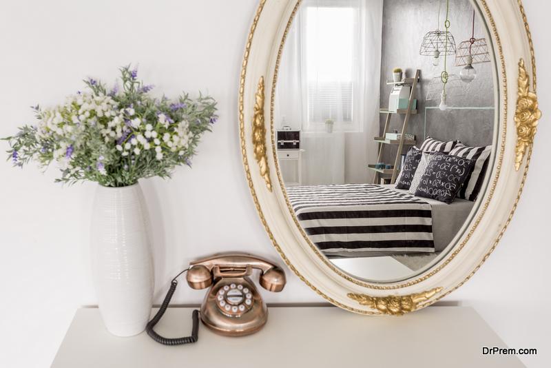 Mirror in the bedroom
