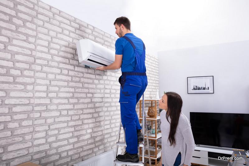 professional air con repairman