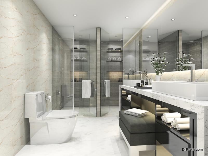 Lights in the bathroom