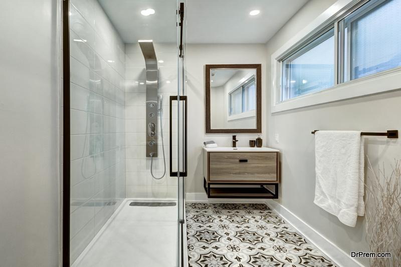 beautiful bathroom Flooring