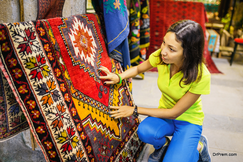 woman Buying Authentic Rug